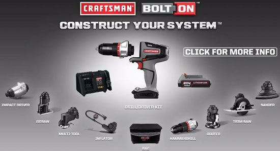 Craftsman Bolt-On Modular Power Tool
