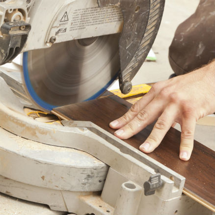 Cutting Laminate Floor With A Miter Saw