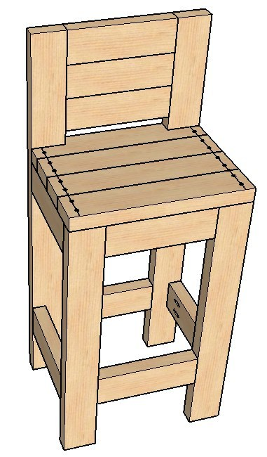 Miraculous How To Build A 24 Bar Stool Creativecarmelina Interior Chair Design Creativecarmelinacom