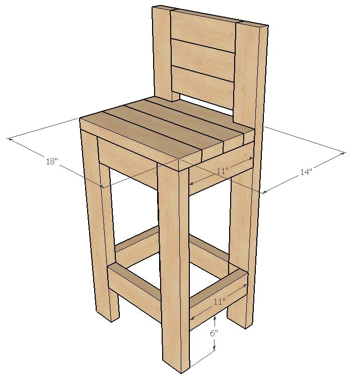 Groovy How To Build A 24 Bar Stool Uwap Interior Chair Design Uwaporg