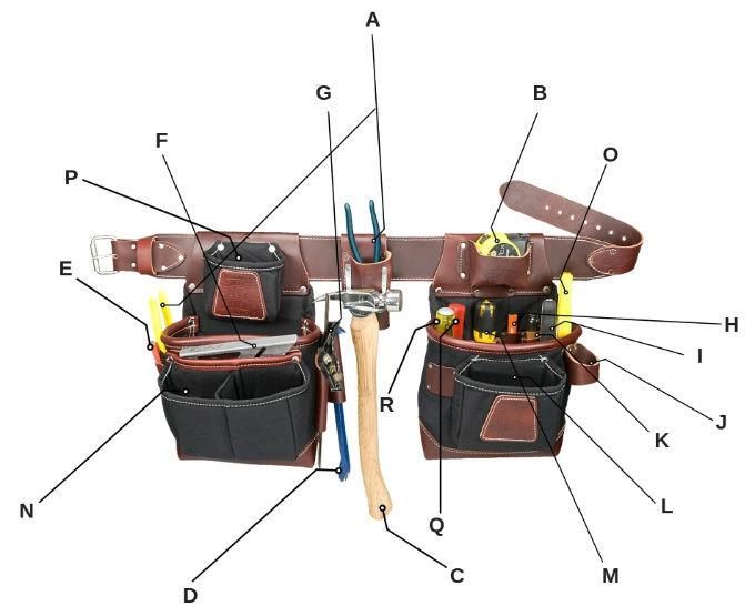Basic Framing/Carpentry Tools | What\'s Inside A Framer\'s Bags?